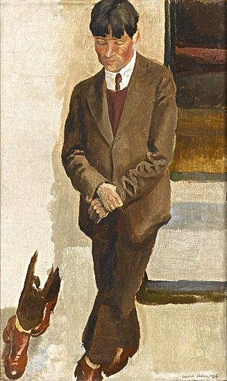 Portrait of Stanley Spencer, study for �Gathering on the Terrace at 47 Downshire Hill, Hampstead�, 1924�5 -