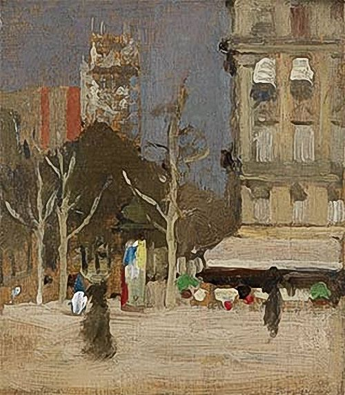 The Tour St. Jacques, Paris, circa 1901 -